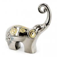 Статуэтка слон серебристый 26 см HYS127