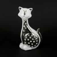 Статуэтка кот серебристо-белый HY21096-1