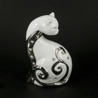Статуэтка кошка со стразами 16 см HY21244-2