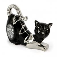 Статуэтка кошка черная со стразами HY21248-2bs