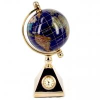 Глобус 80 мм з годинником CA010-1