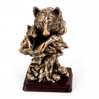Статуэтка волка и волченка E051 фигурка