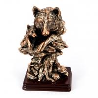 Статуетка вовка і Вовченка E051 фігурка