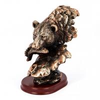 Статуэтка медведя с рыбой E054