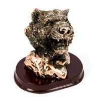 Статуэтка голова тигра фигурка на подставке E189