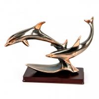 Статуэтка дельфины фигурка на подставке E251