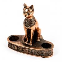 Статуэтка кошка египетская подсвечник E341