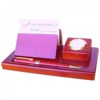 Подарочный набор для письма с часами, ручкой и визитницей D932F-101