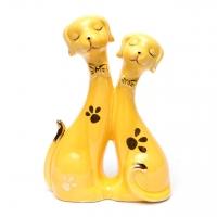 Фарфоровые статуэтки собак желтые GR2 100313-01 Classic Art