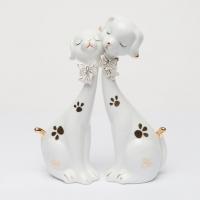 Фарфоровые статуэтки собак белые GR5 100310-01 Classic Art