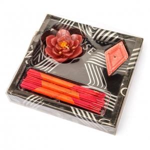 Аромапалочки и ароматическая свеча с клубничным запахом CS-16-2