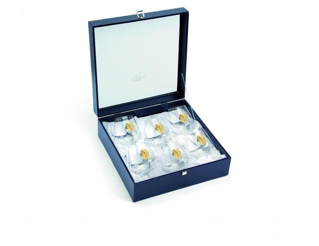 Набор бокалов для виски 6 шт gold 6218600 Chinelli