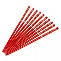 Набор палочек для суши темно красные 5 пар 04