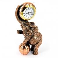 Статуетка слон з м'ячем настільний годинник E550 Classic Art