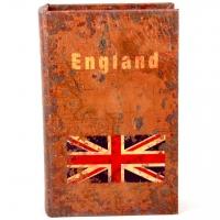 Шкатулка книга средняя England KSH-PU1662M