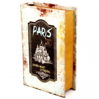 Шкатулка книга велика Paris KSH-PU1678B Decos