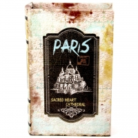 Шкатулка книга средняя Paris KSH-PU1678M Decos