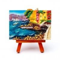 Картина морская дома с видом на бухту КОП-1-09