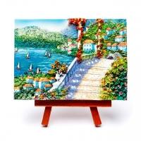 Картина пейзаж Аллея у морской гавани КОП-2-01