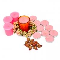 Большой набор свечей розовый 12 шт SBB-9-2 Decos