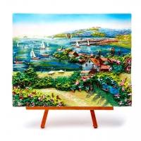 Картина объемная морской пейзаж Яхты в гавани КОП-3-13
