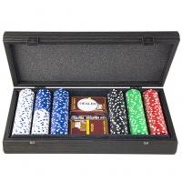 Покерный набор на 300 фишек в эксклюзивном футляре PDE10.300 Manopoulos