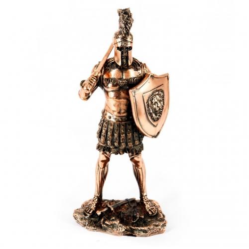 Статуэтка воина гладиатора фигурка со львом на щите T996 Two Captains