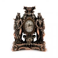 Статуэтка Фортуны с рогом изобилия часы настольные T1405