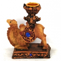 Статуэтка верблюд подсвечник на одну свечу 4057