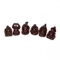 Статуэтка Будда коричневый малый набор 6 шт