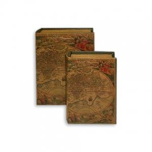 Набор книг шкатулок Античная карта 2 шт C-1003