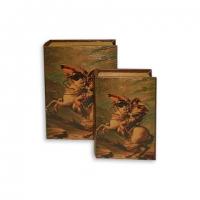 Набор книг шкатулок Наполеон на лошади 2 шт C-1001 Decos