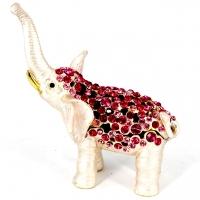 Шкатулка зі стразами статуетка слон 0003