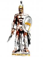 Статуэтка воина спартанца с мечом PL0503V-31A2-8 Argenti Classic