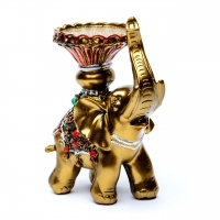 Статуетка свічник слон 4519
