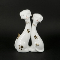 Статуэтки собак из фарфора белые GR2 100313-03 Classic Art