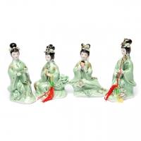 Китайські порцелянові статуетки дівчат 4 шт GR7 Classic Art