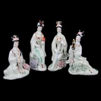 Китайські статуетки з порцеляни дівчат 4 шт GR8