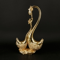 Статуэтка лебеди под золото BR-703