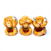 Статуэтка три обезьяны