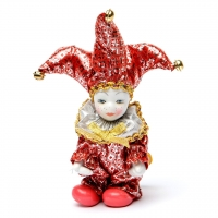 Статуэтка фигурка кукла венецианский шут A2 №2-03