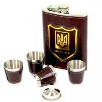 Подарочная патриотическая фляга для алкоголя со стопками TZ-01