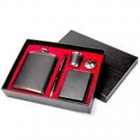 Подарочный набор с Флягой и портсигаром TZ-07