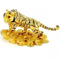 Шкатулка со стразами статуэтка тигр 525