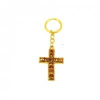 Брелок со стразами 066 крест