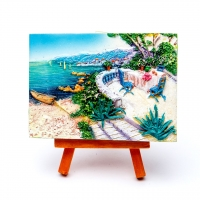 Картина об'ємна Столик у моря КОП-1-03