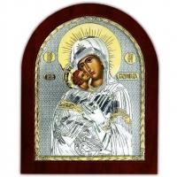 Икона Владимирская Божьей Матери EP5-007XAG/P Silver Axion