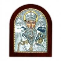 Икона Святого Николая EP2-009XAG/P Silver Axion