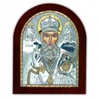 Икона Святого Николая Чудотворца EP4-009XAG/P Silver Axion