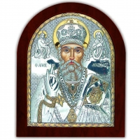 Икона Св. Николай Чудотворец EP5-009XAG/P Silver Axion
